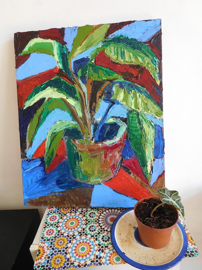 Plante exposée avec plante chez Ping Pong